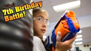 Jillian's 7th Birthday Battle! KARATE KICKS, PUNCHES & NERF WAR!