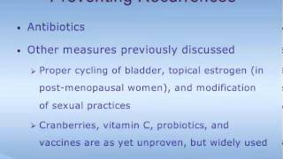 Treatment of Bladder Infections in Women