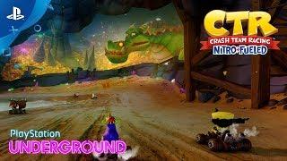 CTR Nitro-Fueled - Retro Stadium Track Revealed & Dragon Mines Gameplay