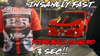 STREET OUTLAWS FIREBALL CAMARO IS A TURBO ROCKET!! 3 SEC PASS!!
