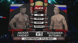 Абукар Яндиев vs Александр Бутенко, M-1 Challenge 74