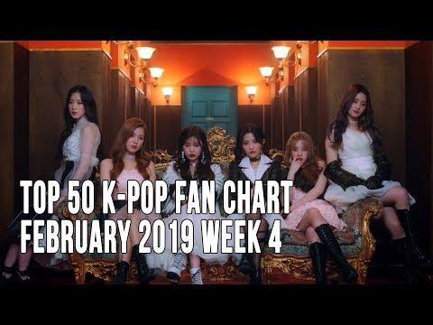 Top 50 K-Pop Songs Chart - February 2019 Week 4 Fan Chart