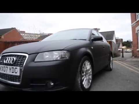 Audi A3 Matte Black Plasti Dip - смотреть онлайн на Hah Life