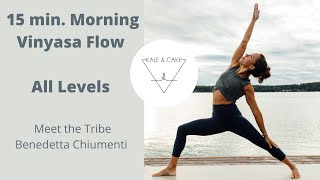 15 min. Morning Vinyasa Flow for All Levels   Meet The Tribe - Bene Chiumenti