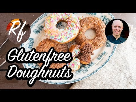 How to make glutenfree doughnuts with glutenfree flour, egg, milk, psyllium husk and salt. >