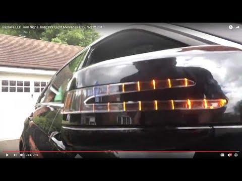 Replace LED Turn Signal Indicator Light Mercedes E350 W212 2010