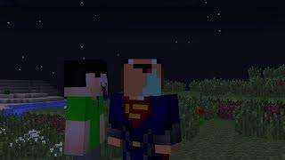 NOOB SUPERMAN VS NOOB IRON MAN BATALLA DE HEROES MINECRAFT TROLL