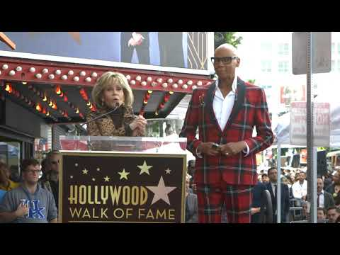Jane Fonda honored RuPaul at his Hollywood Walk of Fame Ceremony