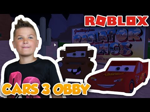 SAVE LIGHTNING MCQUEEN !! CARS 3 ADVENTURE OBBY | ROBLOX PARKOUR