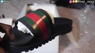 1d2746361a46 Gucci Flip Flops Review + On Feet Review (Gucci Web Slide Sandals) (