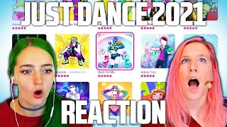 JUST DANCE 2021 FULL GAME REACTION (new Quick Play mode + last unknown songs 😱) w/ littlesiha