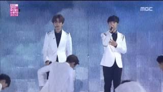 "Live HD   141207 EXO ""인어의 눈물 (Baby Don't Cry) & 월광 (Moonlight) & 으르렁 (Growl)"" @ MBC 코리안 뮤직 웨이브 인 베이징"