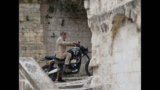 James Bond - No Time To Die: Extended edit with bike stunt riding