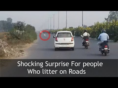 SURPRISE FOR PEOPLE LITTERING ON ROADS | TST Video