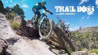 Freeriding on Free Lunch Trail for an episode of my series, Trail Boss.