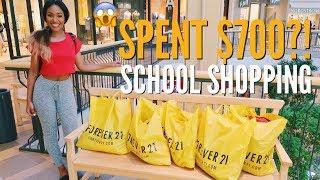 Forever 21 TOOK ME BACK TO SCHOOL SHOPPING | $700 SPENT SHOPPING SPREE