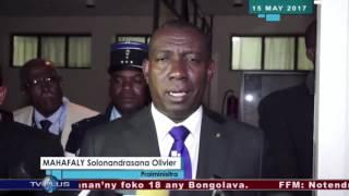 Praiminisitra Mahafaly15-05-2017: fandraisana andraikitra amin'ny tsy fandriampahalemana