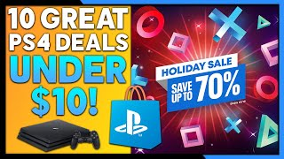 10 Great PSN Holiday Sale Deals UNDER $10! - SUPER CHEAP PS4 Games!