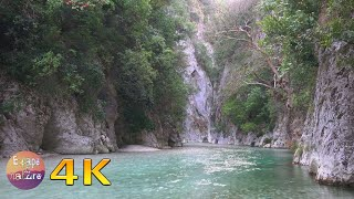 3 hrs relaxing river sounds - Calming canyon and birds singing in the morning-Relax Study - 4K video