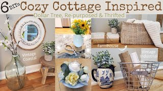 6 Cottage Farmhouse Coastal Vintage Inspired | Dollar Tree | Thrifted | Trash To Treasure DIYs