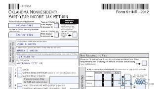 Form 511NR Oklahoma Nonresident Part Year Income Tax Return