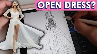 REWORKING A DESIGN | WEDDING DRESS SKETCH | Naomi Peris Bridal