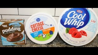 Low Calorie Dessert Recipe: Cottage Cheese, Pudding Mix & Cool Whip