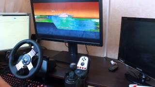 3D Инструктор 2, Учебный автосимулятор 2 - езда на руле Logitech G27