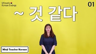 "[Ultimate Korean Endings_01] ""~것 같아요"" (I think, It seems that)"