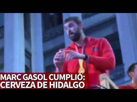 El hidalgo de cerveza Marc Gasol en plena Gran Vía: el pueblo se lo pidió   Diario AS