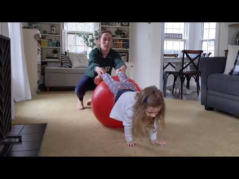 Screenshot of video: Therapy Ball exercises at home