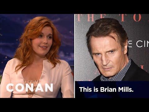 Maggie Grace: Liam Neeson Prank-Called My Ex-Boyfriend  – CONAN on TBS
