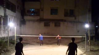preview picture of video 'Badminton at Bangladesh, Dhaka, Banasree (January 26, 2015) 01'