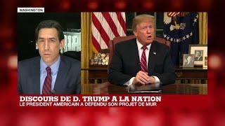 """Donald Trump réclame """"une barrière en acier"""" à la frontière mexicaine"""
