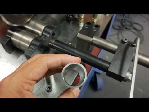 TD-41860-Tube cutting machine,Tube rolling machine, tube shrinking machine, groove wheel machine, wheel convex machine, pipe cutting machine, wheel cutting machine