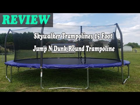 Skywalker Trampolines 15 Foot Jump N Dunk Round Trampoline Review 2021