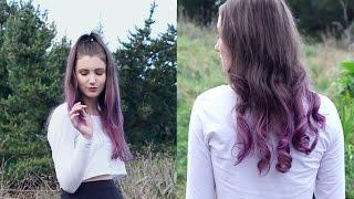 Purple Ombre Hair | DIY for brown hair