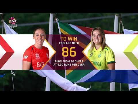 England v South Africa Women's World T20 2018 highlights