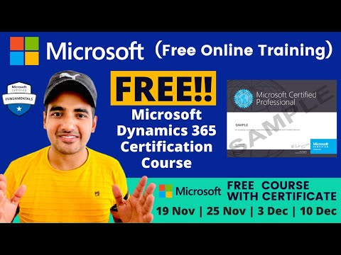 Microsoft Free Course With Certificate | Microsoft Dynamics Free ...