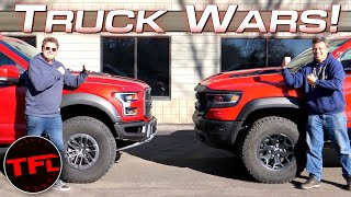 Ram TRX vs Ford Raptor - One Of These Trucks is Better....But Which One? by The Fast Lane Truck