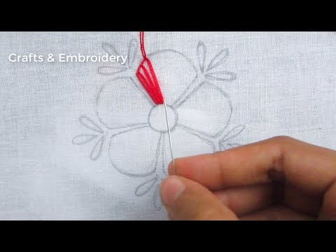 Hand Embroidery, Button Hole Stitch Flower Embroidery
