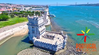 Lisbon aerial view - Lisboa vista do céu - Torre Belém - Amphi-Bus