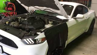 Ford Mustang 2016-2018 Windshield replacement and a walk around the vehicle