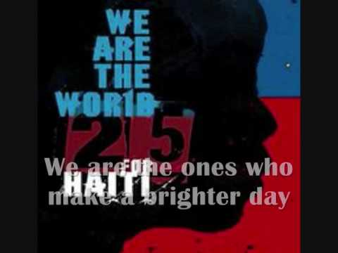 We Are The World 25 for Haiti - with lyrics and artists