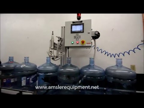 Empty Bottle Inspection System 3 & 5 Gallon Containers Bottle inspection equipment sold by Amsler Equipment