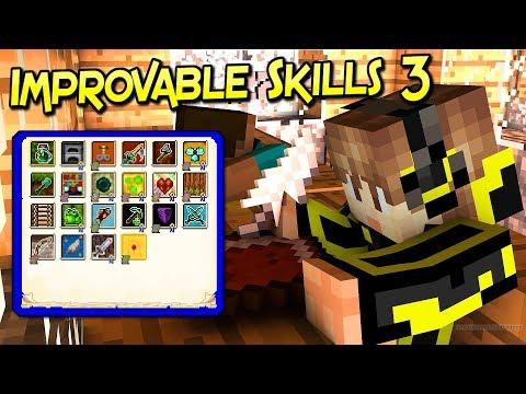 Improvable Skills 3 Mod | Mejora Las Habilidades De Tu Personaje | Minecraft 1.12.2 | Review Español