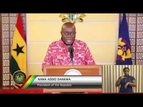 Nana Addo Extends Lock Down For 1 More Week, Free Light And Water...