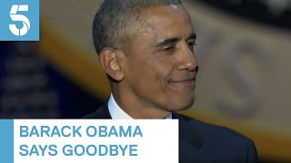 Barack Obama sheds tears as he says goodbye to White House