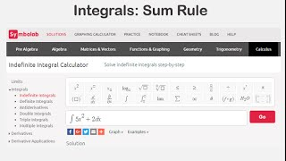 Integrals: Sum Rule