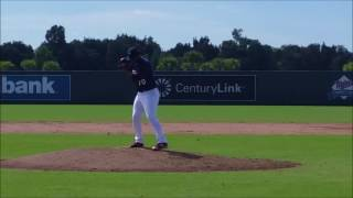 Minnesota Twins prospect Williams Ramirez pitching  Instructional League 9/24/2016